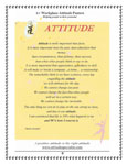 Attitude Poem, Attitude Equation, Smile Attitude, Treatment Attitude, Attitude Acronym